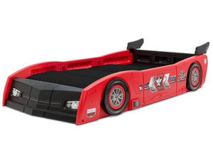 Delta Children Red & Black (620) Grand Prix Race Car Toddler-to-Twin Bed, Twin Left Silo View