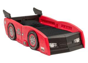 Delta Children Red & Black (620) Grand Prix Race Car Toddler-to-Twin Bed, Toddler Right Silo View