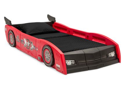 Delta Children Red & Black (620) Grand Prix Race Car Toddler-to-Twin Bed, Twin Right Silo View