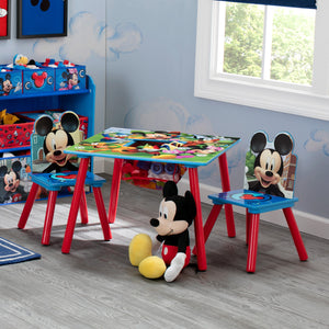 Mickey Mouse Kids Table and Chair Set with Storage