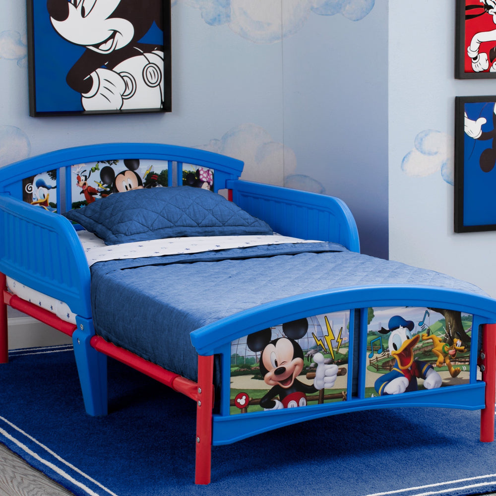 Delta Children Mickey Mouse Plastic Toddler Bed, Hangtag View