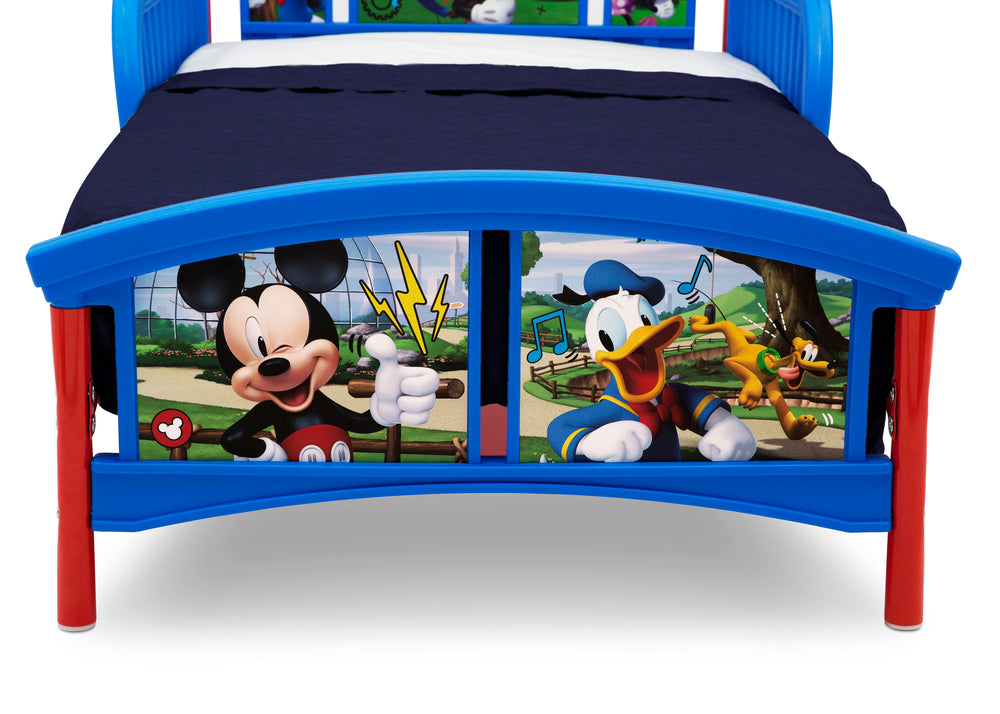 Delta Children Mickey Mouse Plastic Toddler Bed, Footboard Detail View