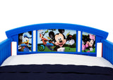 Delta Children Mickey Mouse Plastic Toddler Bed, Headboard Detail View