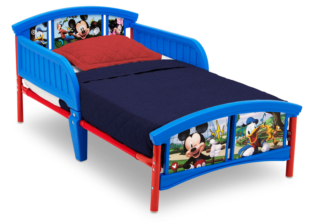 Delta Children Mickey Mouse Plastic Toddler Bed, Right Silo View
