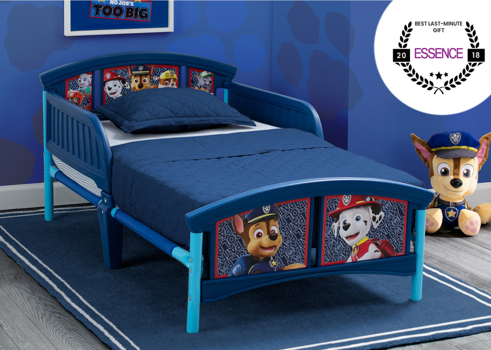 Delta Children Style 1 PAW Patrol Plastic Toddler Bed, hangtag with badge