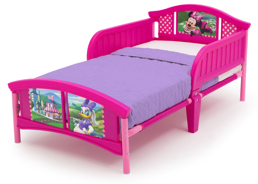Delta Children Style-1 Minnie Mouse Plastic Toddler Bed Left View a3a