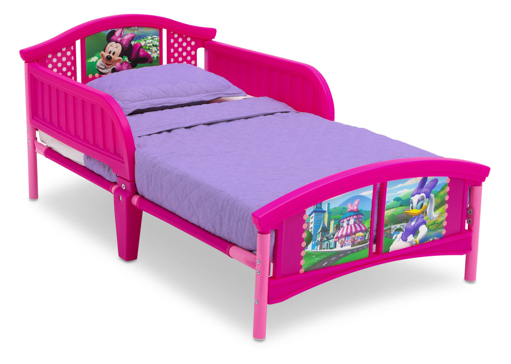 Delta Children Style-1 Minnie Mouse Plastic Toddler Bed Right View a2a