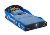 Police Car (999) Plastic Sleep and Play Toddler Bed by Delta Children Right Silo View