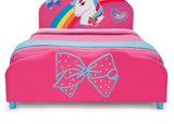 Delta Children JoJo Siwa Upholstered Twin Bed, Footboard Detail View