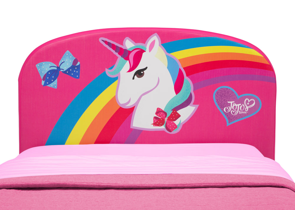 Delta Children JoJo Siwa Upholstered Twin Bed, Headboard Detail View