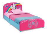 Delta Children JoJo Siwa Upholstered Twin Bed, Right Silo View