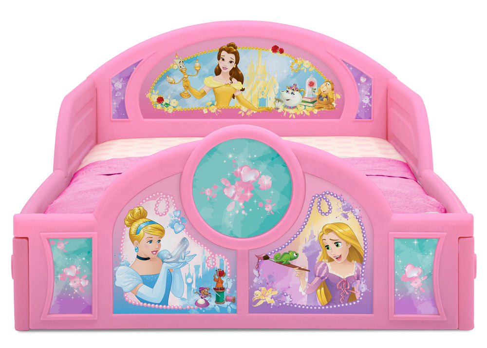 Delta Children Princess Plastic Sleep and Play Toddler Bed, Footboard Detail View