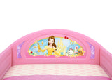 Delta Children Princess Plastic Sleep and Play Toddler Bed, Headboard Detail View