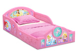 Delta Children Princess Plastic Sleep and Play Toddler Bed, Right Silo View