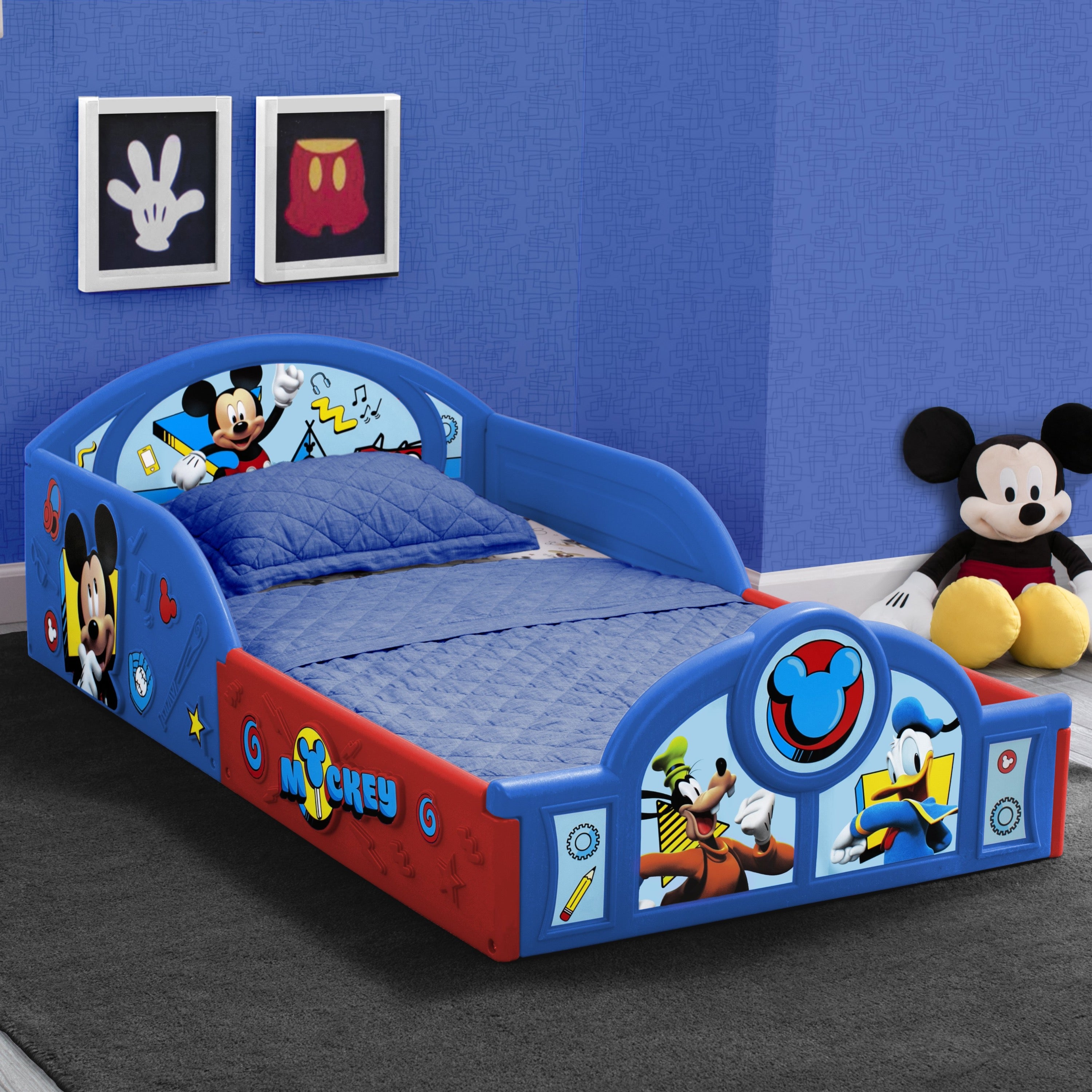 Mickey Mouse Plastic Sleep And Play Toddler Bed Delta Children