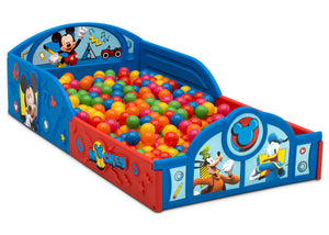 Mickey Hot Dog (1054) Delta Children Mickey Mouse Plastic Sleep and Play Toddler Bed, Sleep and Play