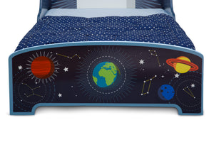 Delta Children Space Adventures (1223) Rocket Ship Wood Toddler Bed, Footboard View