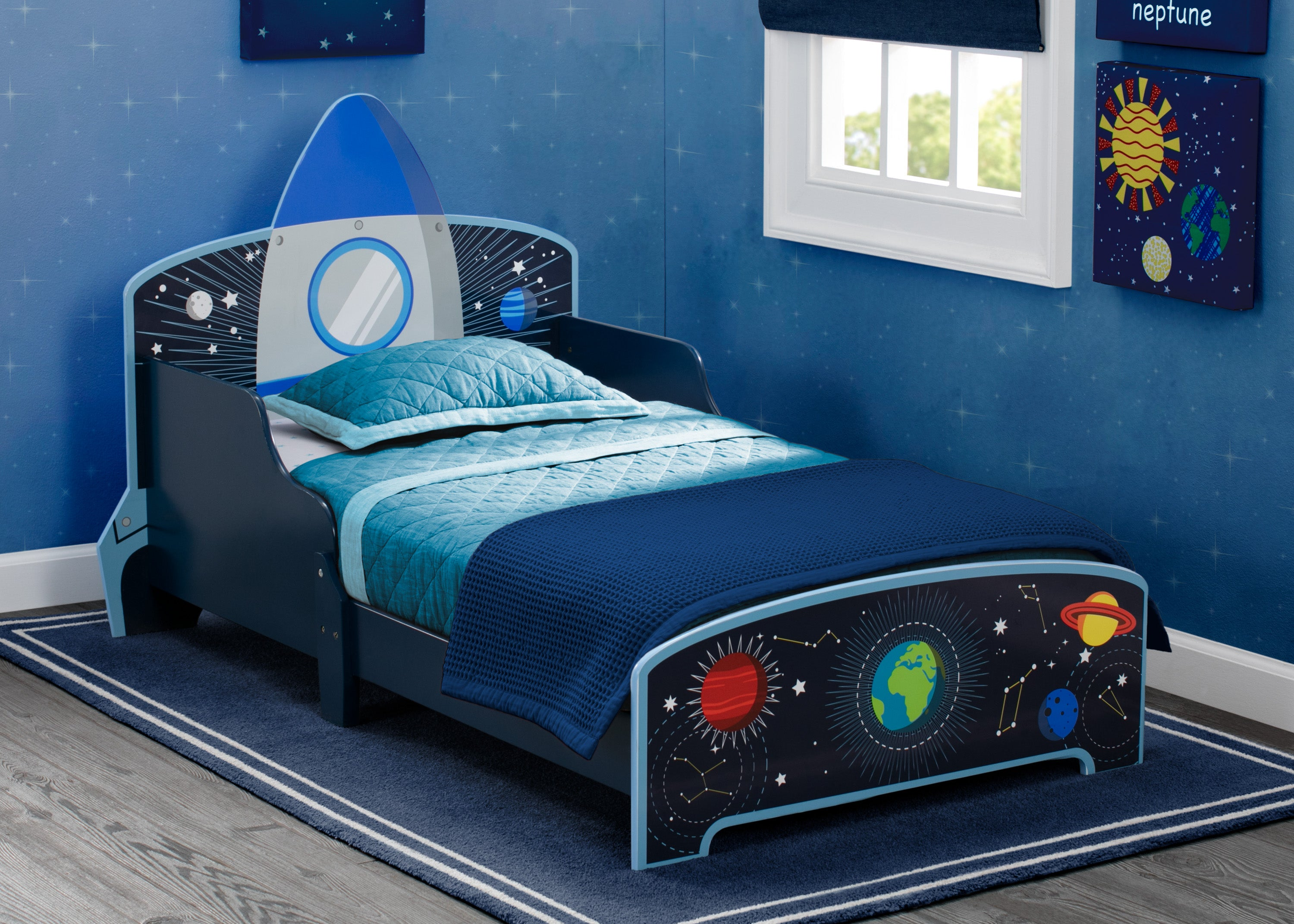 Picture of: Space Adventures Rocket Ship Wood Toddler Bed Delta Children