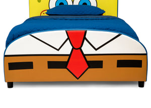 Delta Children SpongeBob (1112) SquarePants Upholstered Twin Bed, Footboard Silo View