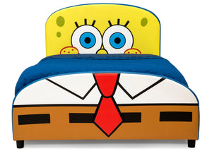 Delta Children SpongeBob (1112) SquarePants Upholstered Twin Bed, Front Silo View