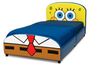 Delta Children SpongeBob (1112) SquarePants Upholstered Twin Bed, Left Silo View
