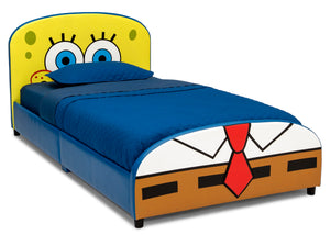 Delta Children SpongeBob (1112) SquarePants Upholstered Twin Bed, Right Silo View