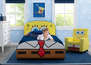 Delta Children SpongeBob (1112) SquarePants Upholstered Twin Bed, Room View