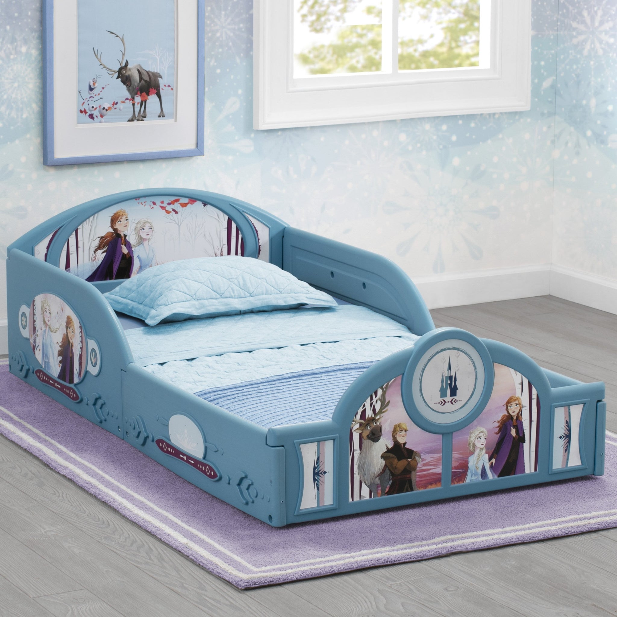 Frozen II Plastic Sleep and Play Toddler Bed