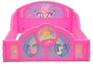 Delta Children Peppa Pig (1171) Plastic Sleep and Play Toddler Bed, Footboard View