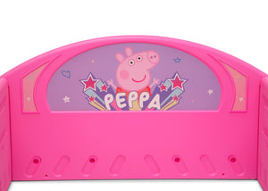 Delta Children Peppa Pig (1171) Plastic Sleep and Play Toddler Bed, Headboard View