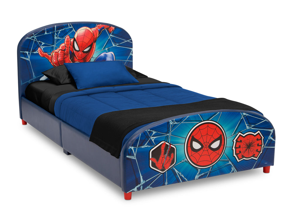 Delta Children Spider-Man Upholstered Twin Bed, Right Silo View