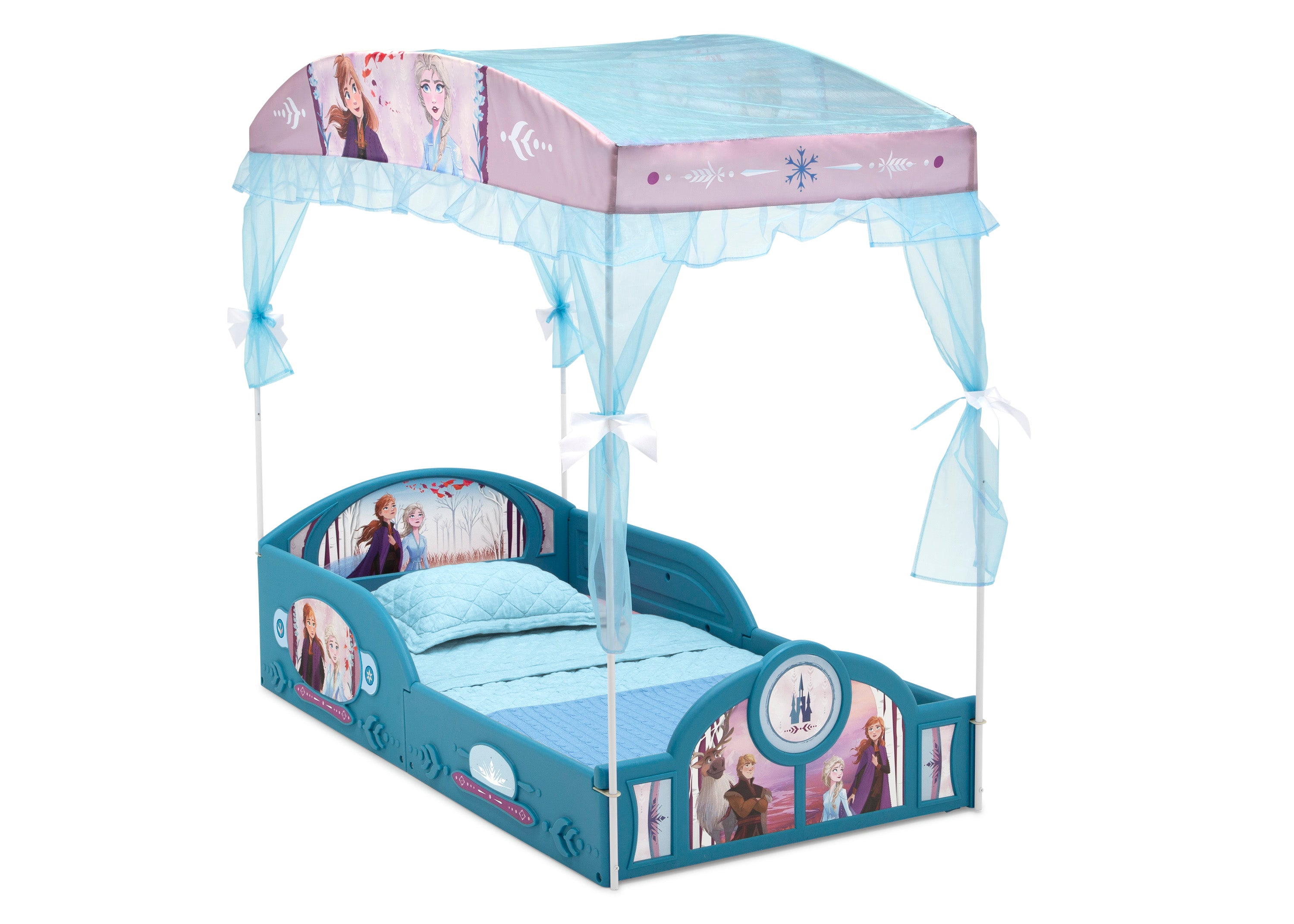 Disney Frozen II Plastic Sleep and Play Toddler Bed with ...