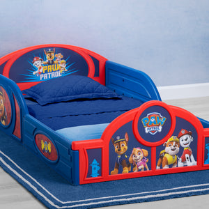 Delta Children PAW Patrol (1121) Plastic Sleep and Play Toddler Bed, Hangtag View