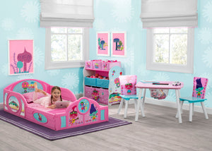 Delta Children Trolls World Tour (1177) Plastic Sleep and Play Toddler Bed, Room View