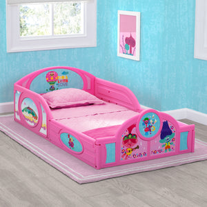 Trolls World Tour Plastic Sleep and Play Toddler Bed