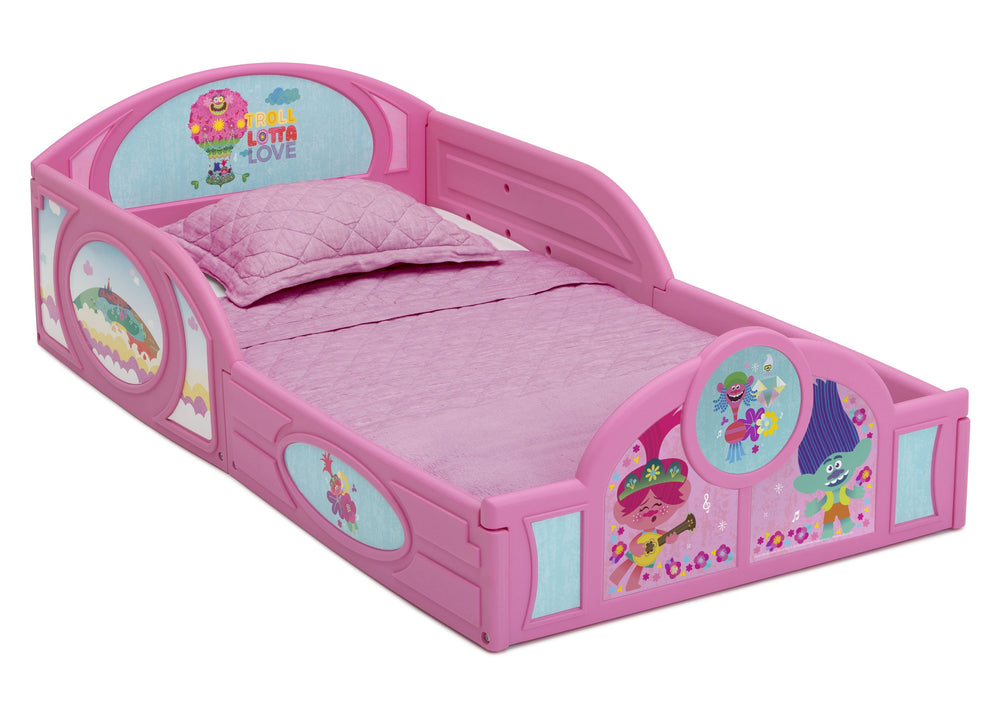 Trolls World Tour Plastic Sleep and Play Toddler Bed ...