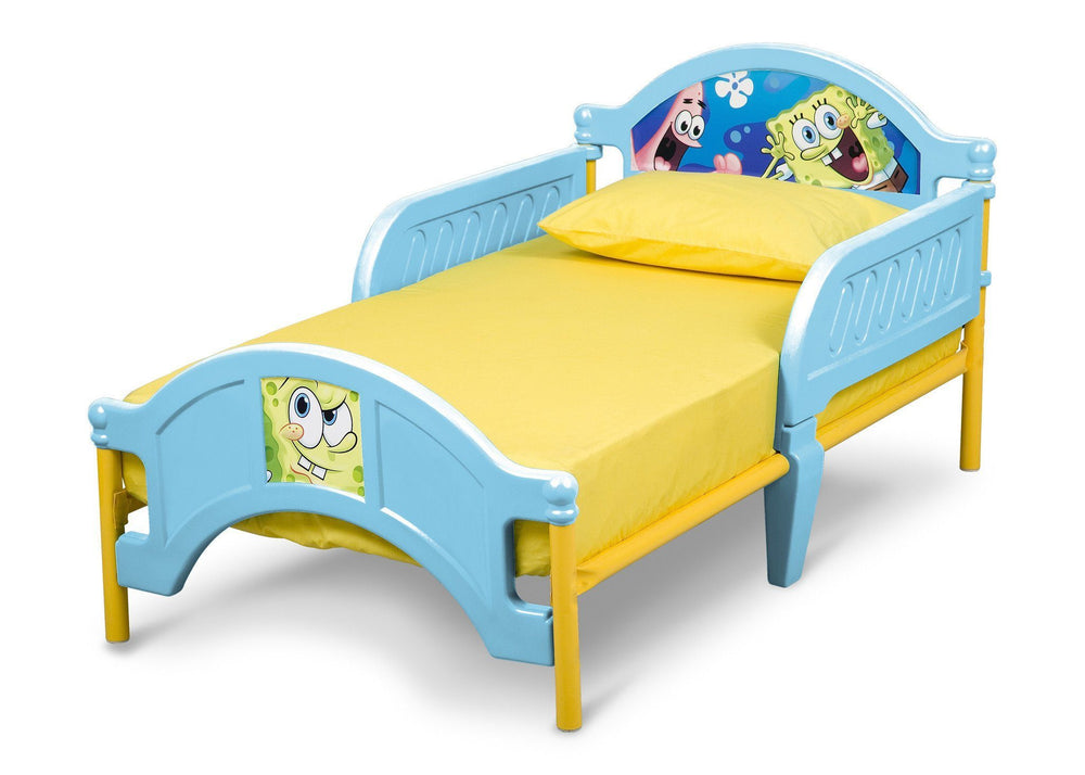 Delta Children SpongeBob Plastic Toddler Bed Left Side View a2a