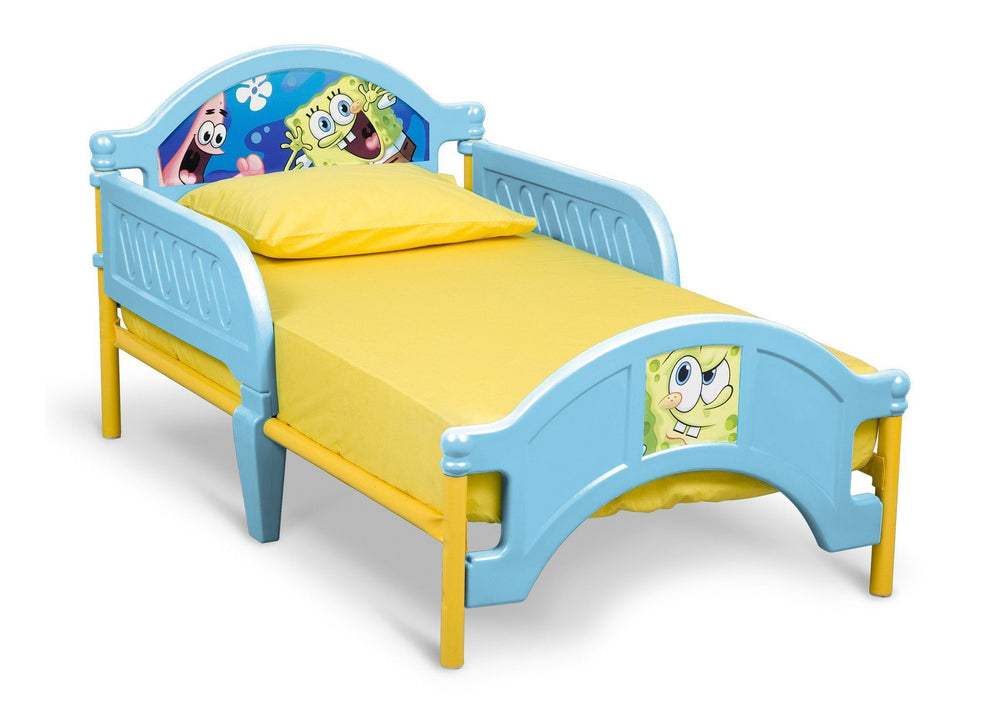 Delta Children SpongeBob Plastic Toddler Bed Right Side View a1a