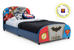 Delta Children DC Comics Justice League Upholstered Twin Bed Justice League (1215), Right View a2a