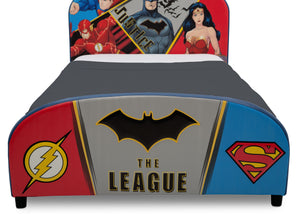Delta Children DC Comics Justice League Upholstered Twin Bed Justice League (1215), Footboard View a3a