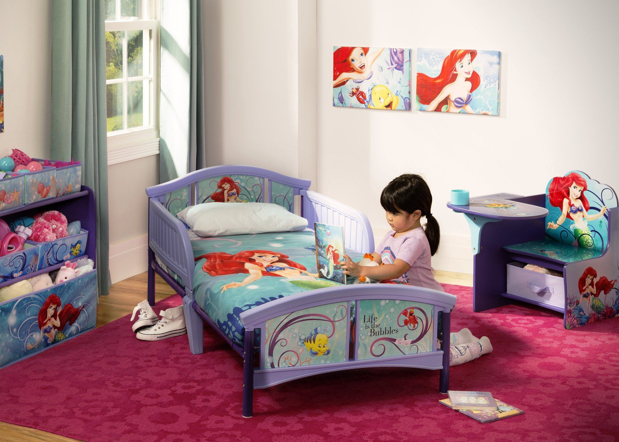 Delicieux ... Delta Children Little Mermaid Plastic Toddler Bed Room View A0a ...