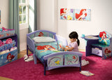 Delta Children Little Mermaid Plastic Toddler Bed Room View a0a