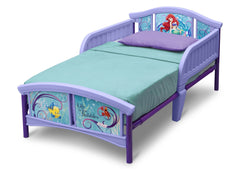 Delta Children Little Mermaid Plastic Toddler Bed Left Side View a2a
