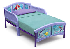 Delta Children Little Mermaid Plastic Toddler Bed Right Side View a1a