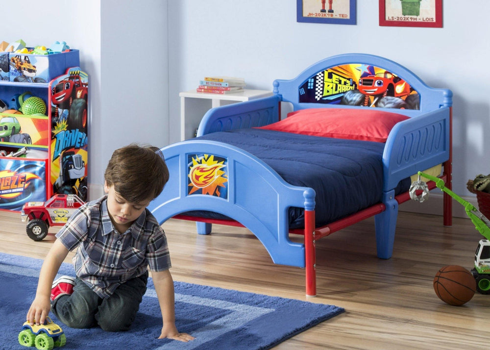 Blaze and the Monster Machines Plastic Toddler Bed
