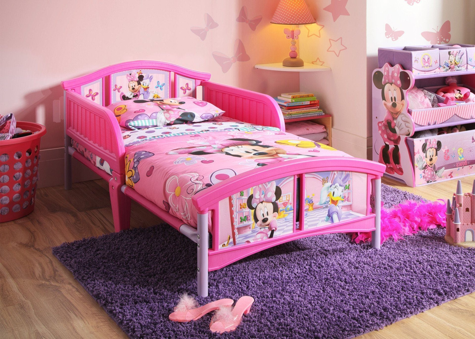 Picture of: Minnie Mouse Plastic Toddler Bed Delta Children