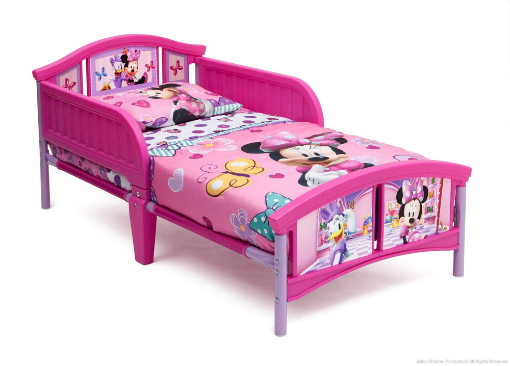 Delta Children Disney Minnie Mouse Plastic Toddler Bed Right Side View a2a