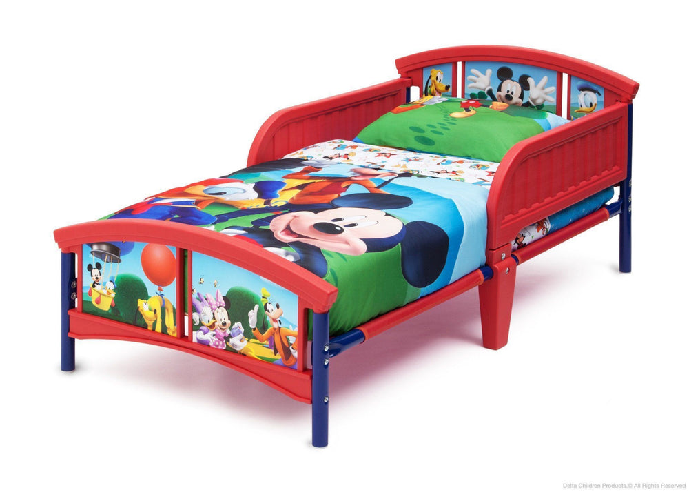 Delta Children Disney Mickey Plastic Toddler Bed Left Side View a3a