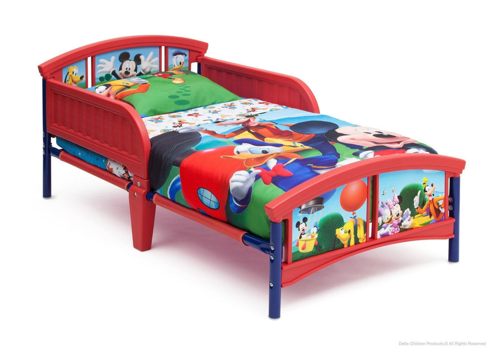 Delta Children Disney Mickey Plastic Toddler Bed Right Side View a2a
