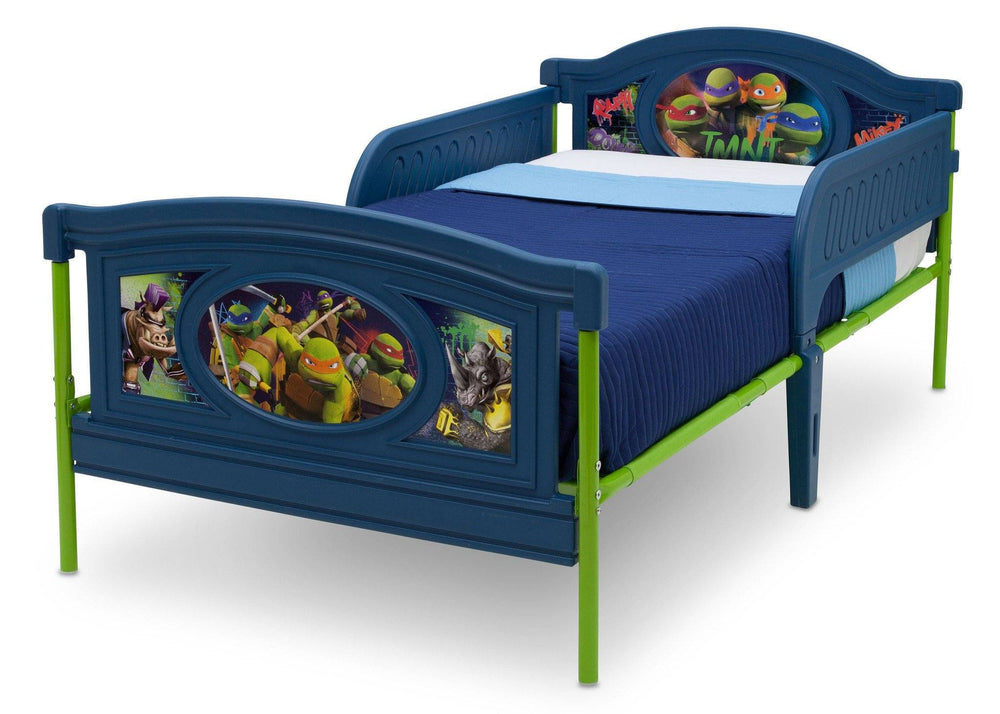 Delta Children Teenage Mutant Ninja Turtles Deluxe Plastic Twin Bed, Left View a2a